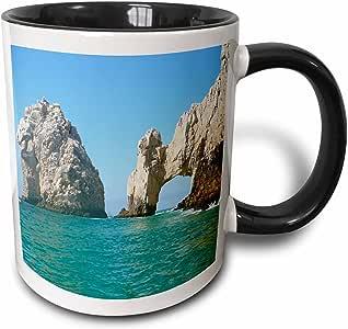 3drose albom 设计 seascapes–孔 IN THE 摇滚 CABO SAN Lucas 墨西哥–马克杯 黑色/白色 11 oz