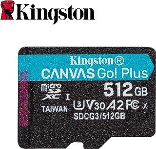 Kingston 金士顿 512GB microSDXC Canvas Go Plus 170MB/s Read UHS-I, C10, U3, V30, A2/A1 内存卡 + 适配器 (SDCG3/512GB)