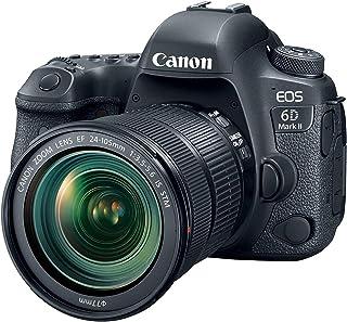Canon EOS 6d Mark II 全格式 SLR - 数码相机 (26.2万像素, 7.7厘米 (3英寸) 显示屏, DiGIC 7, 带 WLAN/NFC/蓝牙和 GPS) 只有机箱黑色