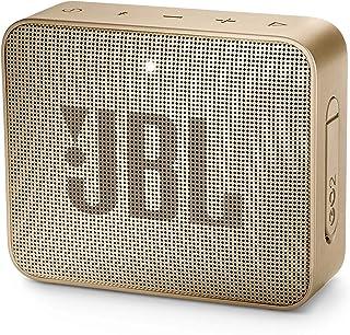 JBL GO 2 防水低音炮/小音箱,免提功能,一次充电可播放5小时,香槟色