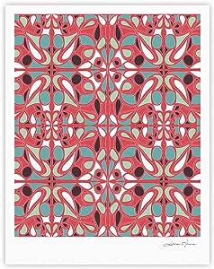 Kess InHouse Miranda Mol 彩色玻璃粉色画廊艺术印刷品,40.64 x 50.8 厘米