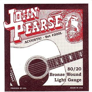 John Pearse P200L 青铜原声吉他弦,浅色