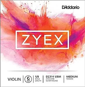 D'Addario 达达里奥 Zyex 中等张力 1/8 小提琴 G 弦单弦(DZ314 1/8M)