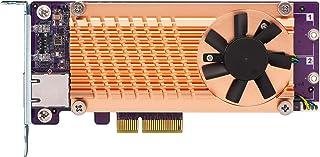 QNAP QM2-2P10G1TA Pci-E 扩展卡,带 2 个 PCIe 2280 M.2 SSD 插槽,PCIe Gen2 X 4,1 个 AQC107S 10GbE Nbase-T 端口 M.2 SATA with 10GbE