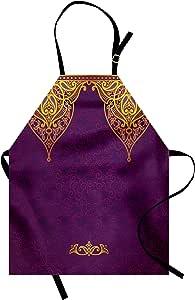 Ambesonne 数码印花多色围裙 紫色黄色 Adult Size apron_16799