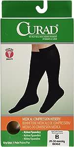 Medline Curad Knee-High Compression Hosiery, Beige, B