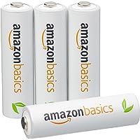 AmazonBasics 亚马逊倍思 4节五号镍氢预充电可充电电池,可循环使用 1000次(标准值:2000mAh,最小值:1900mAh)