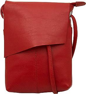 ili New York 6647 皮革迷你 Sac 翻盖斜挎包 红色 单一尺寸