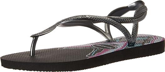 havaianas 女式 LUNA 印花凉鞋黑色