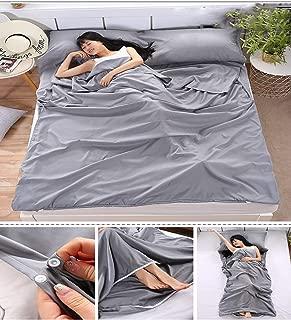 SweetyYake 便携式紧凑旅行睡袋衬垫 适合露营/*店单独脏睡袋 易于清洁