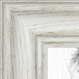 "ArtToFrames 画框深红色橡木染黑 3.18 cm 宽 白色 23 x 23"" 2WOM0151-59504-475-23x23"