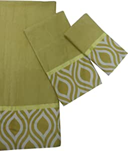 Popular Bath The Nicole Collection 3-Piece Towel Set, Lime Green
