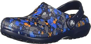 Crocs 卡骆驰儿童经典印花内衬洞鞋