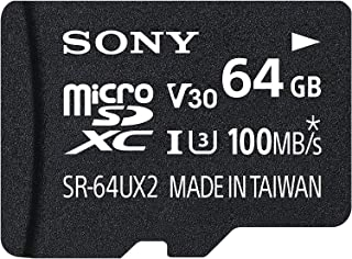 Sony 64GB MicroSDXC Secure Digital Flash Memory Card - EXPERT Series Class 10 UHS-1 (Read 95MB/s Write 90MB/s) - SR64UXA with Adapter
