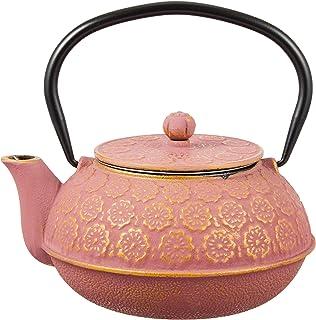 cotta 铁器茶壶 花 粉金 粉色 金 15.6×14×14.6cm 92163