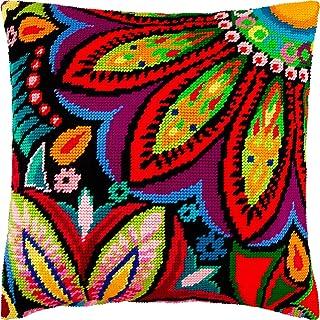 针点套件抱枕 40.64 x 40.64 厘米印花挂毯帆布,欧洲品质 Front side only 16″×16″ (40 cm × 40 cm) V155