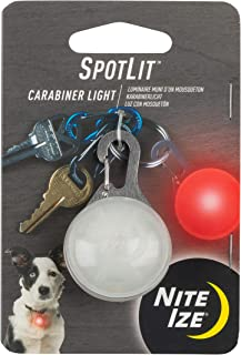 Nite Ize SpotLit 卡扣式 LED 灯,带钩环,防风雨 红色