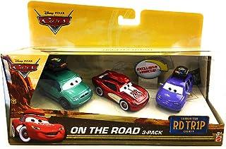 Disney Pixar 汽车总动员 3 件装特有巡航闪电麦昆,Van,迷你,带行李箱