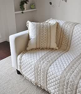 日本制造 绗缝&托盘 沙发套 米色 約180×150cm -