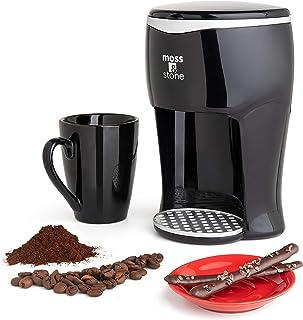 Moss & Stone 迷你滴滤咖啡壶,带咖啡杯的小咖啡壶(1 个滴漏和马克杯)