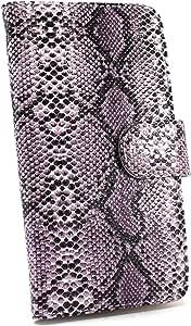 whitenuts 保护套翻盖式蛇纹 紫色 21_ ビジネススマートフォン F-04F