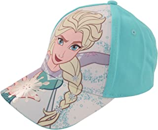 Disney 女童冰雪奇缘图案棉质棒球帽,适合 2-7 岁儿童