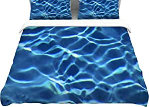 "KESS InHouse PB2008ACD03 Philip Brown ""Blue Pool""大号棉羽绒被套,264.16 厘米 x 223.52 厘米"