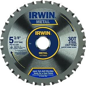 IRWIN Tools Metal Cutting Circular Saw Blade, 5-3/8-Inch, 30T (1779856)