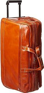 Floto Luggage Italian Large Milano Trolley, Orange, Large