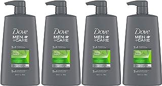 Dove 男士+护理 2 合 1 洗发水和护发素强化*清新清洁帮助加强* 25.4 盎司,4 支装