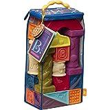 B.Toys 浮雕字母软积木 无毒可啃咬 牙胶 感官训练 早教 数字形状认知 6个月+