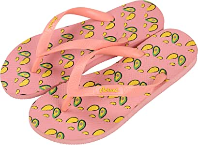 Aerusi SER086029 海洋珊瑚系列草莓设计人字拖凉鞋 红色 US Woman Size 9.5-10.5 / Man Size 8-9 SER086041