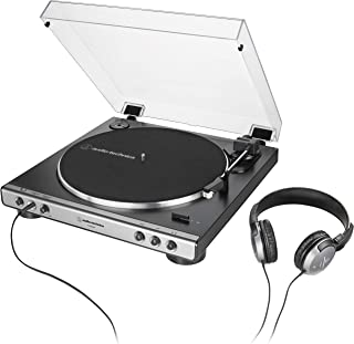 Audio-Technica AT-LP60XHP Fully Automatic Belt-Drive Turntable, Gunmetal/Black, Hi-Fidelity, Plays 33 -1/3 and 45 RPM Reco...
