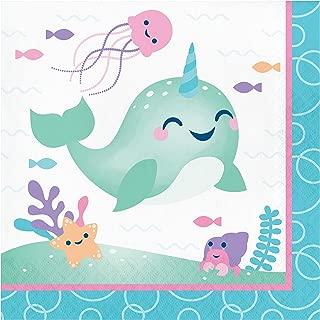 独角鲸派对餐巾纸,48 片