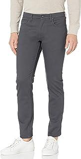 Perry Ellis 男式修身纯色 5 口袋长裤