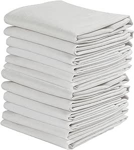 KAF 家居 12 条装白色厨房毛巾,* 纯棉,吸水,超柔软 白色 20 x 30-Inches unknown