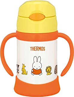 THERMOS 真空保溫 寶寶用吸管杯  黃色 9個月及以上 250ml FHI-250B