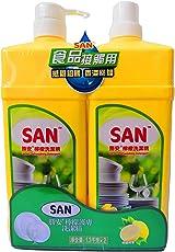 SAN 胜安 柠檬护肤洗洁精1.3kg*2(亚马逊自营商品, 由供应商配送)