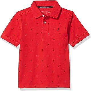 Nautica 诺帝卡男童短袖全身印花 Polo 衫