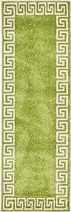 Unique Loom Athens 系列几何休闲现代边米色小地毯