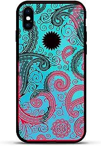 Luxendary iPhone X 黑色到棕色到红色手机壳 - Magma(变色)锚图案深色LUX-IXMGM-PAISLEY3 BABY PAISLEY iPhone X Magma(变色)