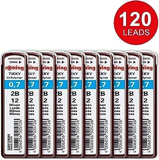 Rotring 300 包 12 个笔芯用于压铅笔,0.7 毫米,硬度 2B,透明
