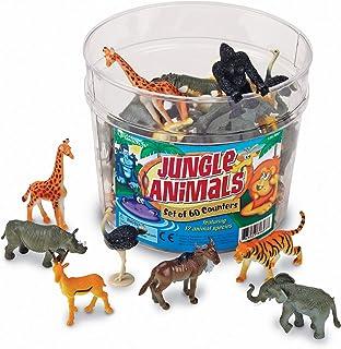 Learning Resources 丛林动物计数器,60件,12种动物,5岁以上的儿童,多色,