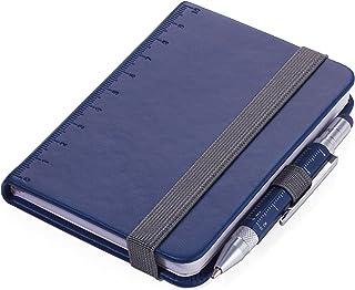 TROIKA LILIPAD+LILIPUT - NPP25/DB - 记事本 DIN A7 包括 圆珠笔 - 笔记本 - 笔环,书签 - 标尺(10 厘米)封面 - FSC 认证的纸张,穿孔页,点矩阵 - TROIKA-Original