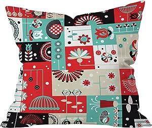 Deny Designs Sam Osborne 圣诞节花环抱枕 Floral Grid 大 52094-thrpi1