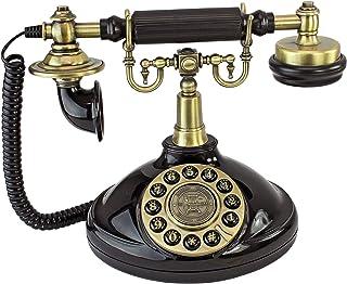 Design Toscano Brittany Neophone 1929 复制品复古电话 黑色 PM1920