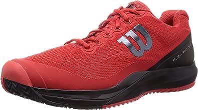 Wellson网球鞋 RUSH PRO 3.0 男士 ポピーレッド/ブラック/エボニー 26.5 cm
