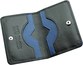 STARHIDE 男士超薄皮革 RFID 屏蔽信用卡包钱包迷你卡包黑色 #120