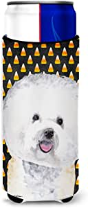 Bichon Frise Candy Corn Halloween Portrait Michelob Ultra Koozies for slim cans SC9173MUK 多色 Slim