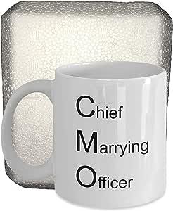 Wedding Officiant Mug(带保护泡沫壳)Chief Marrying Officer 咖啡杯,牧师,ordained,和平正义 白色 15盎司 GB-2230132-43-White